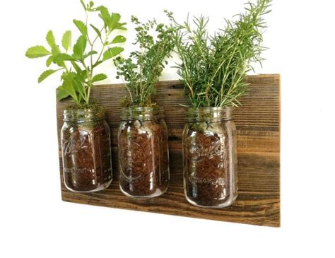 reclaimed wood herb planter hanging planter indoor herb 25 best ideas about indoor hanging planters on pinterest