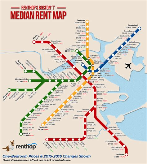 boston map with t stops one bedroom rent mbta map shows differences