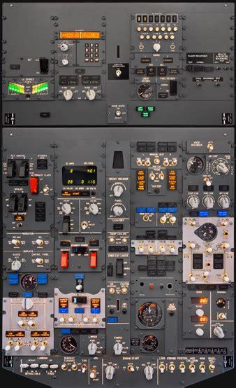 ng overhead panel flight simulator center