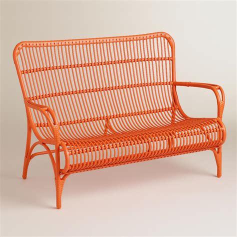 orange bench orange hanalei occasional bench world market