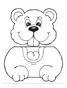 groundhog paper bag puppet pattern templates pinterest