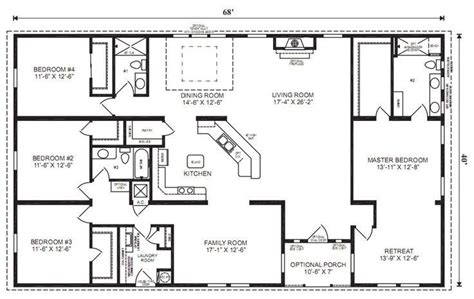 Basic Ranch House Plans by 4 Bedroom House Floor Plans Home Design Ideas