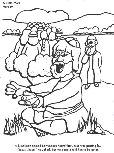 bible coloring pages a blind man