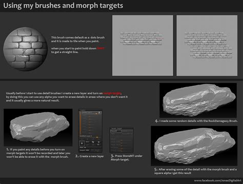 zbrush tutorial download free zbrush brushes 18 stylized rock brushes download