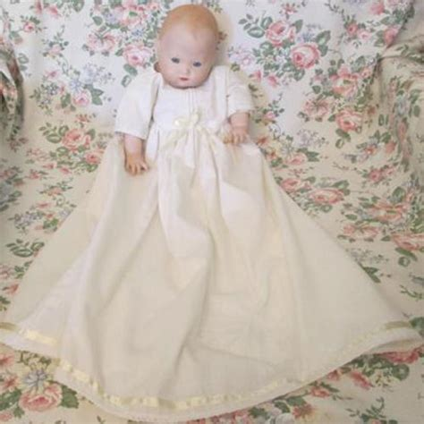 porcelain doll in christening gown vintage vintage doll with porcelain and arms