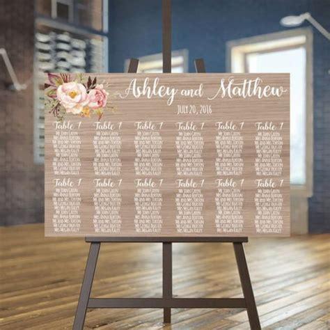 rustic wedding seating plan wedding seating chart printable wood guests list