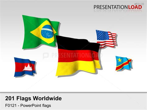 flags of the world ppt powerpoint flag icons of the world s countries