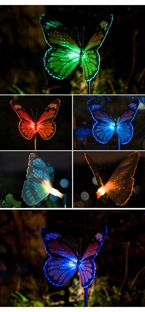 Butterfly Outdoor Lights Butterfly Led Optical Fiber Solar Power Outdoor Light L