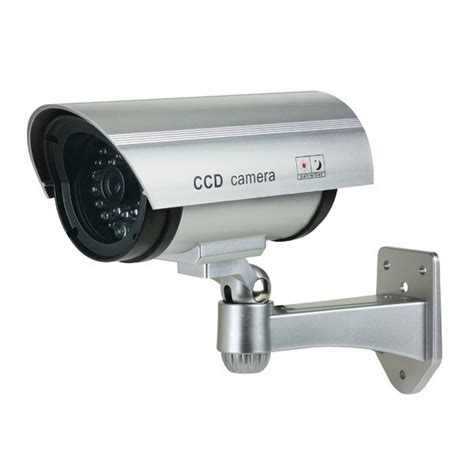 dummy security dummy security bullet silver with blinking led