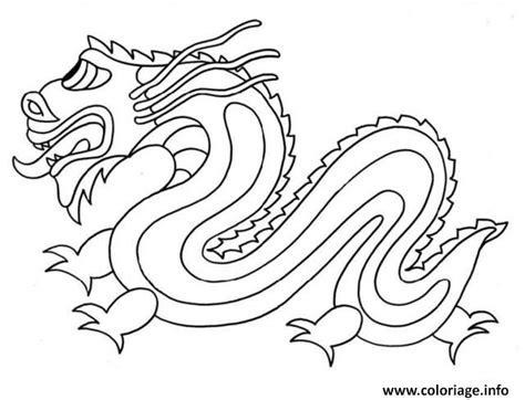 chinese dragon coloring pages easy coloriage dragon chinois simple facile dessin