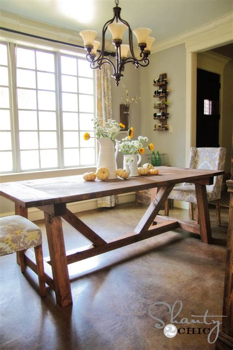 pdf diy restoration hardware dining table plans