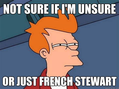 Unsure Meme - not sure if i m unsure or just french stewart futurama