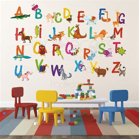 playroom wall stickers nursery abc alphabet wall stickers children playroom wall decals 26