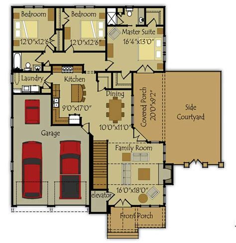small houses floor plans small single story house plan fireside cottage