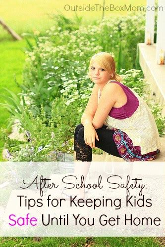 after school safety tips for keeping safe until you