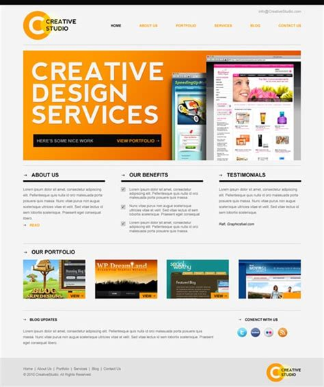 Psd Website Templates Free High Quality Designs Designrfix Com Qa Website Template