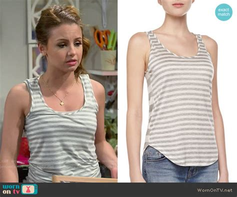 Aimee Stripes Top wornontv sofia s grey striped tank top on and