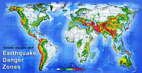 earthquake zones map earthquake danger zone world map large size hd image