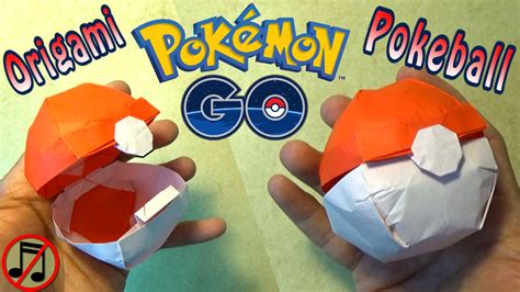 How To Make Paper Pokeball - origami pokeball that opens no