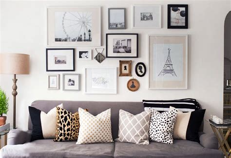 Gallery walls instantly add a sense of sophistication and glamour to