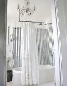 an combo corrugated metal in the bathroom