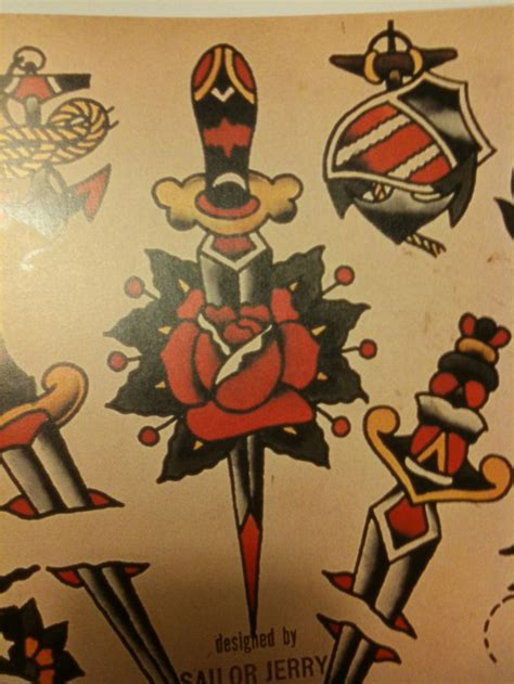 rose tattoo sailor jerry pin by rachael daylong on me