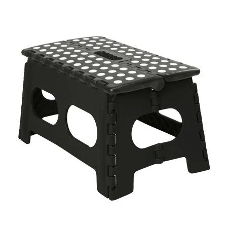 Foldable Step Stool Walmart by Simplify Wide 9 Quot Folding Step Stool Striped Top