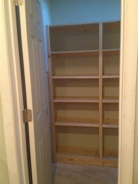 Pantry shelves: paint or stain?
