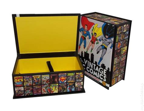 the art box postcards 0714865176 art of vintage dc comics collectible postcards box 2010 chronicle books box only comic books