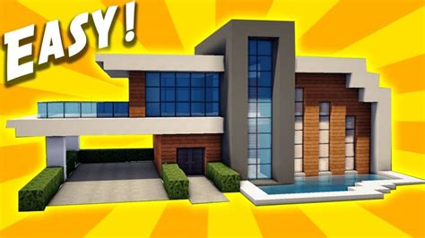 easy to build homes minecraft easy modern house tutorial how to build a