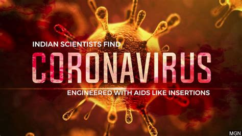 indian scientists discover coronavirus engineered  hiv