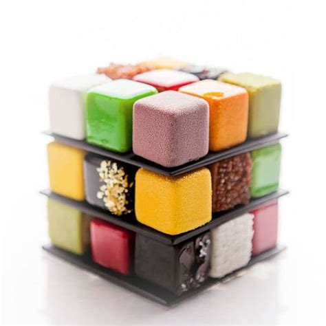 cub foods cakes rubik s cube cakes by c 233 dric grolet put a playful spin on