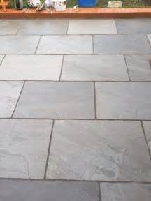 Concrete Slabs For Backyard Silver Grey Indian Sandstone Paving Slabs 900x600 Large