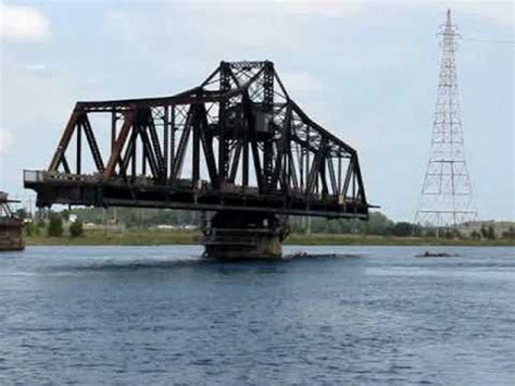 manitoulin swing bridge manitoulin island swing bridge youtube