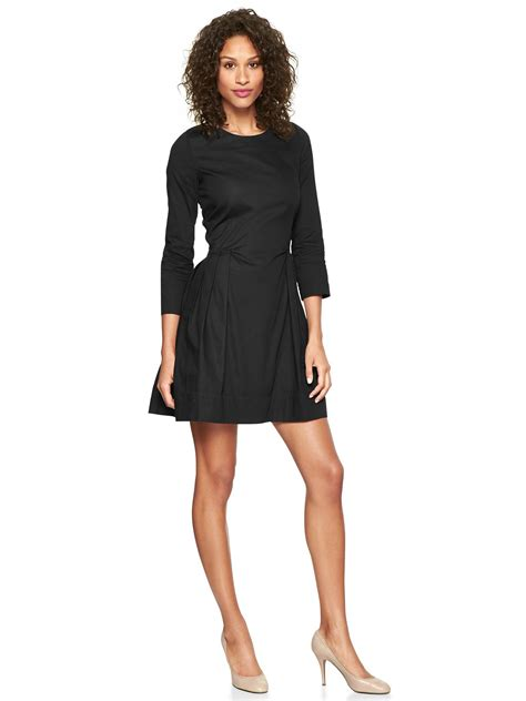 Gap Fit And Flare Oxford Skater Dress Dress Skater Lengan gap black oxford fit and flare dress popsugar fashion