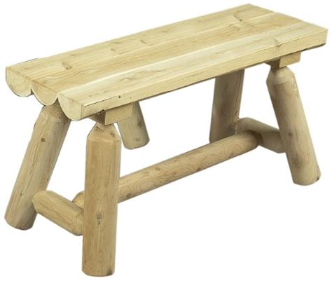 3 foot bench cedarlooks 030020a log straight bench 3 feet 2 benches