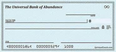 Abundance Checks   Let The New Moon Abundance Flow