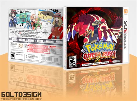 Kaset 3ds Omega Ruby omega ruby hoenn remake 3ds box nintendo 3ds box cover by boltdesign