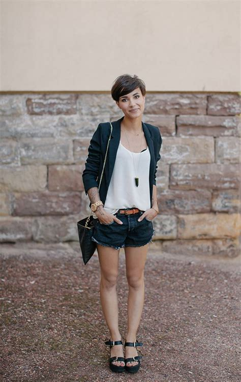 pixie haircut clothing what to wear with short hair glam radar