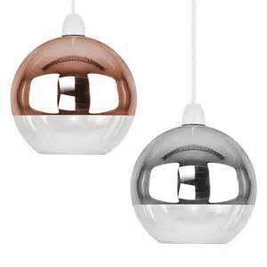 glass light shades for ceiling lights modern metallic copper chrome glass globe ceiling