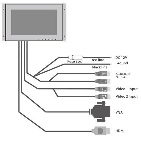 Amazon Com Inwall Video Monitor Display Screen 9 Inch