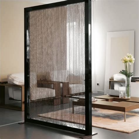 Photo Room Divider Contemporary Room Divider With Metal Chains Curtain By Porada Motiq Home Decorating Ideas