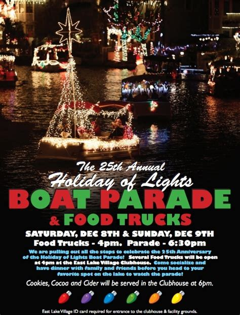 2012 holiday boat parade in east lake village yorba linda