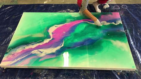 Painting G With A Twist by Resin Painting Work In Progress