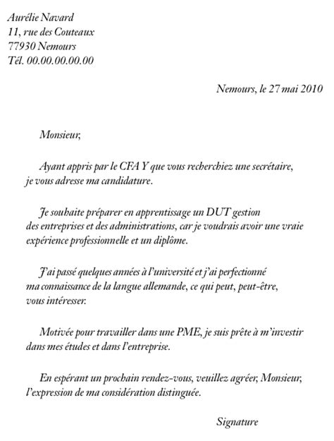 Exemple De Lettre De Motivation D ã Tã Lycã En Lettre De Motivation Exemple Pour Un Emploi Employment Application