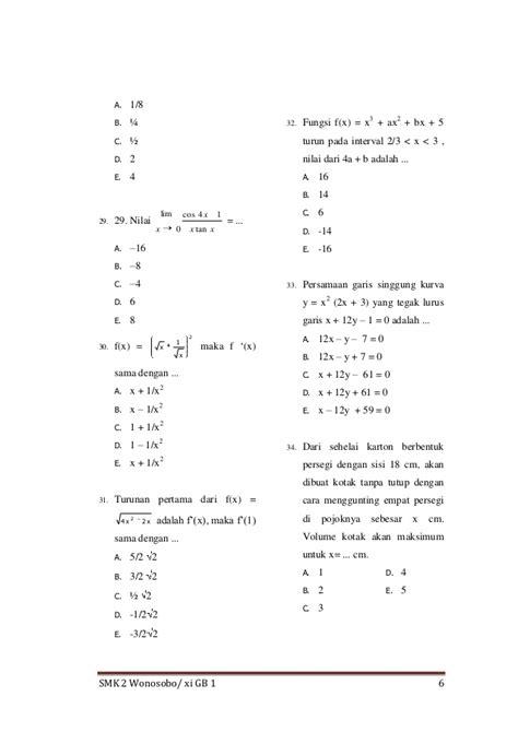 kumpulan soal matematika kelas 6 beserta pembahasannya kumpulan soal matematika kelas xi smk