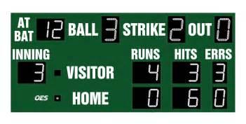 baseball scoreboard 7210 oes scoreboards