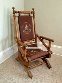 wooden rocking chair upholstered platform rockers antique