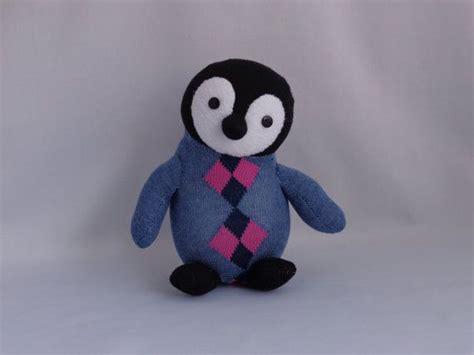 sock animals penguin emperor penguin plush penguin plushie by