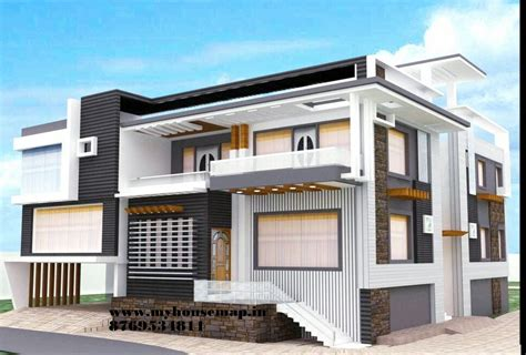 House Design Modern Bungalow tags housemap house map elevation exterior house